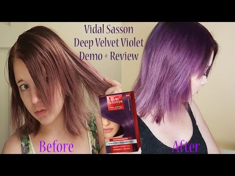 Vidal Sasson Deep Velvet Violet Hair Dye Review Demo Youtube