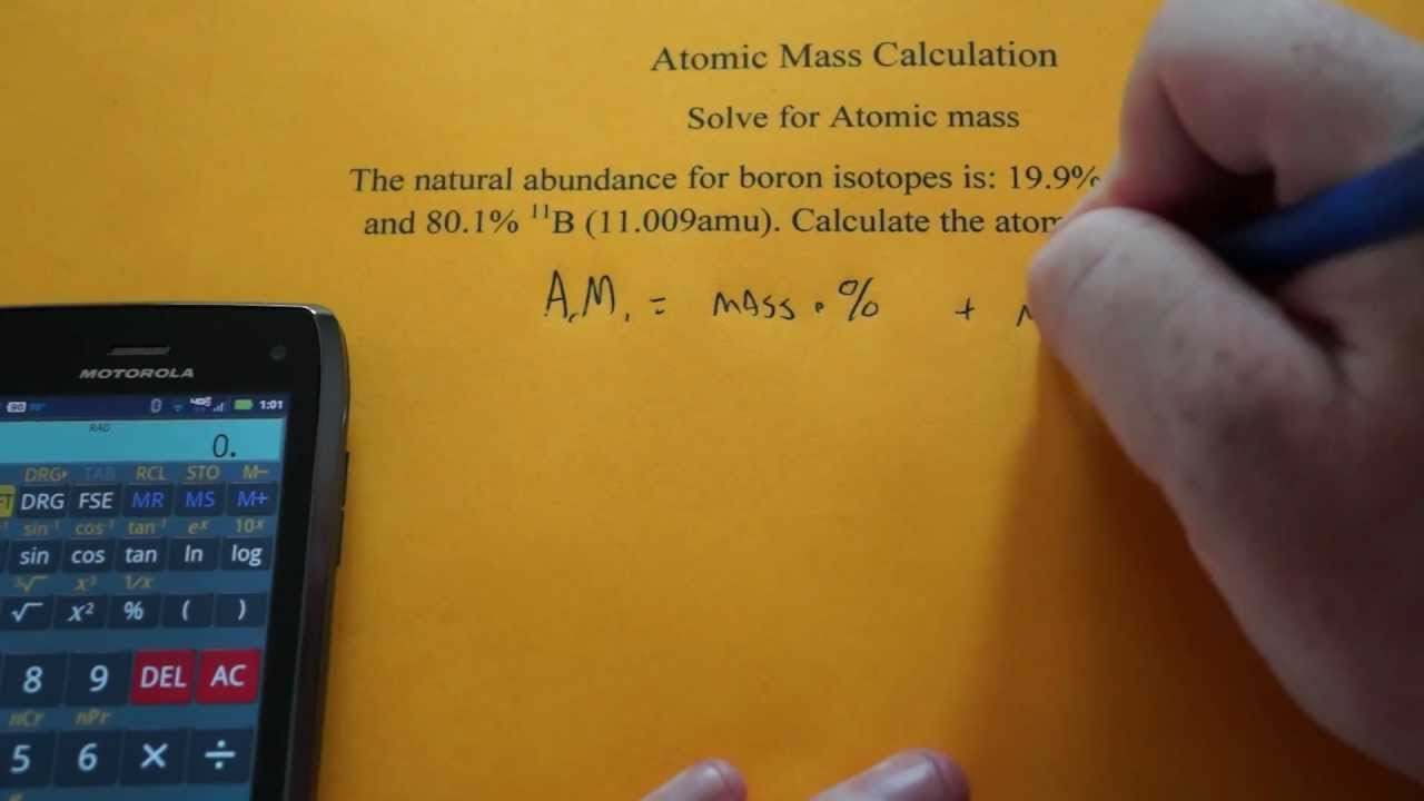 Calculating atomic mass of an element youtube calculating atomic mass of an element urtaz Images