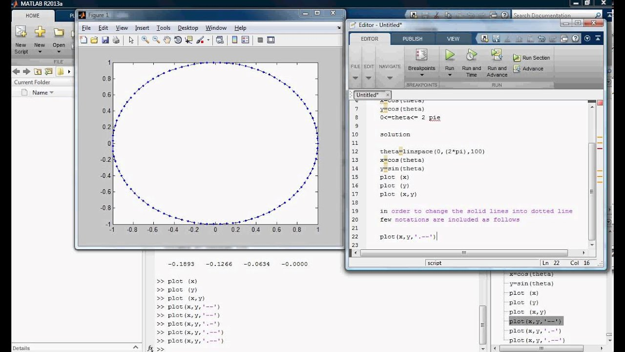 CREATING AND PRINTING SIMPLE 2D PLOT IN MATLAB USING COLOR, MARKER, LINE  STYLE OPTION, LABEL, TITLE