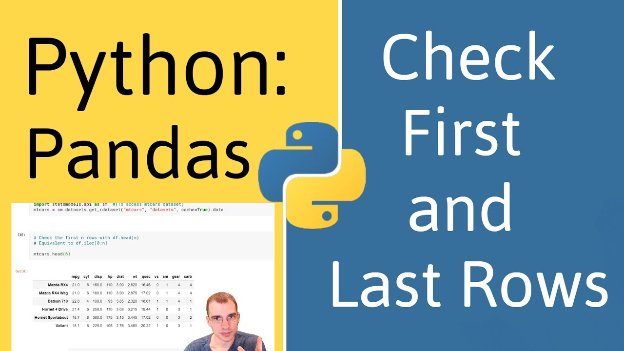 How to Check the First and Last Rows of a Data Frame in Pandas (Python)