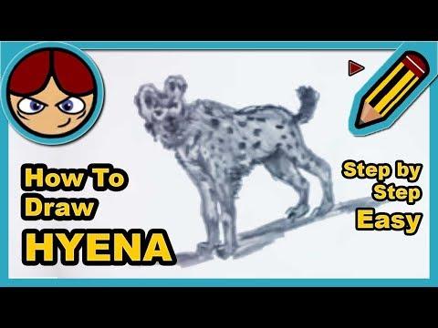 How to draw a hyena  Como dibujar una hiena  YouTube