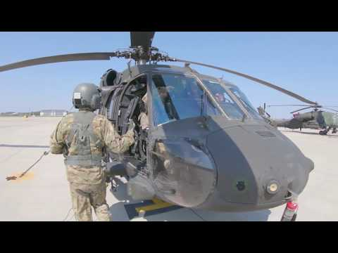 UH60L Blackhawk Engines Start And Takeoff