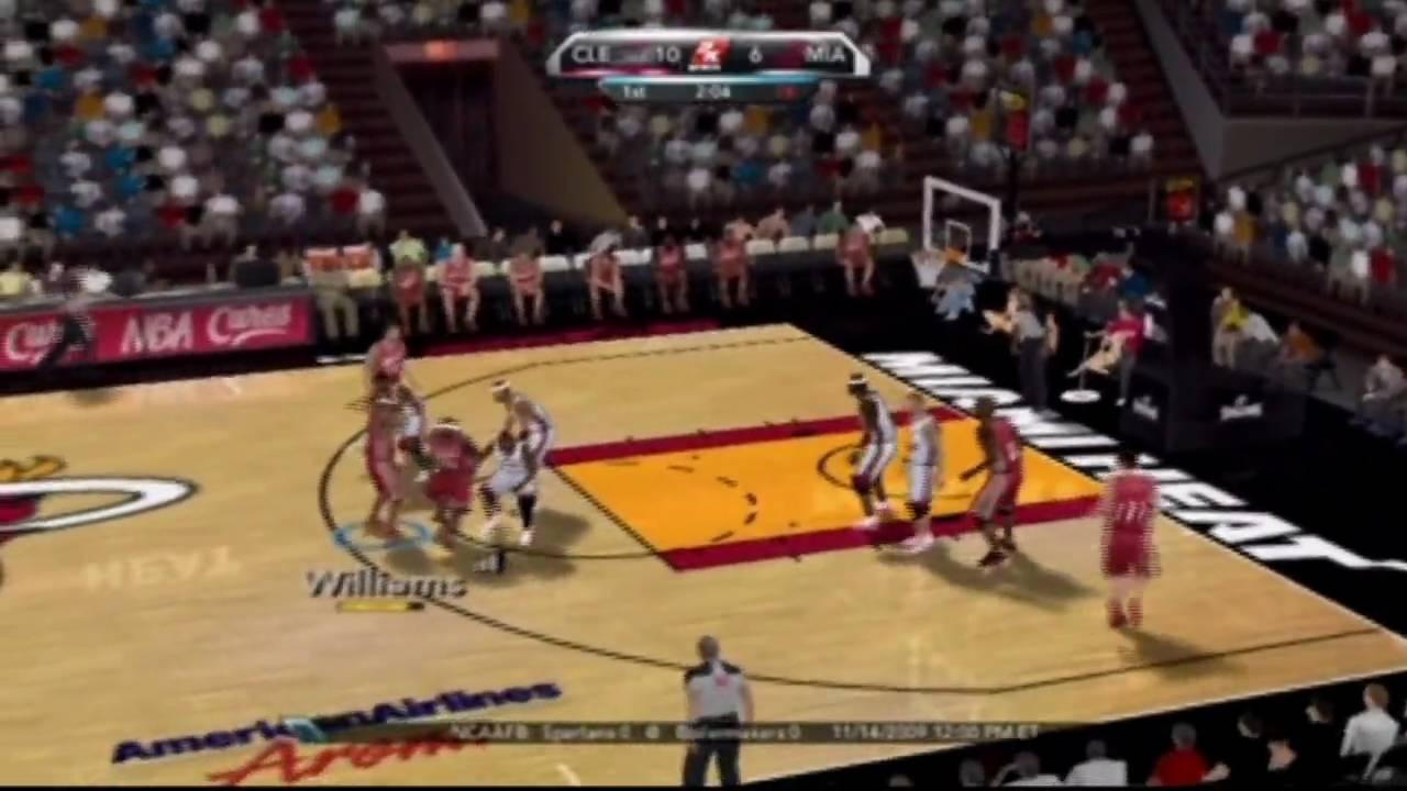 NBA 2K10 (Wii) Gameplay: Cavaliers vs. Heat (480i/SD ...