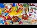 PlayMobil play park and Masha and Bear sand toys car play - 토이몽