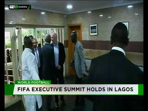 FIFA President Infantino visits Governnor Ambode in Lagos