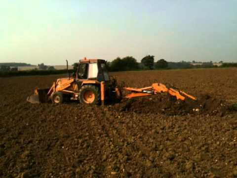 Field drainage repairs on clay soil on organic farm youtube for Soil not draining