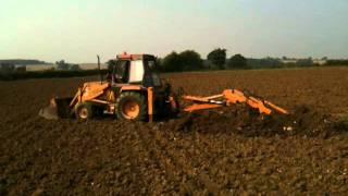 Field drainage repairs on clay soil on organic farm