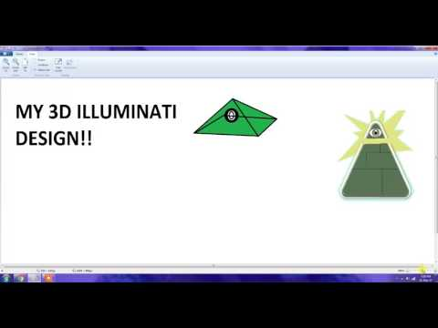 ILLUMINATI 3D DESIGN ON PAINT SONG IN DESC. PLZ LOOK