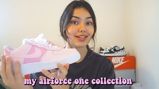 My Nike Air Force One Collection ! *broke and basic