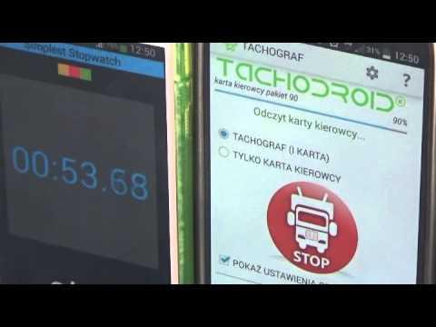 Tachodroid Tachobt Odczyt Tachografu I Karty Kierowcy Przez