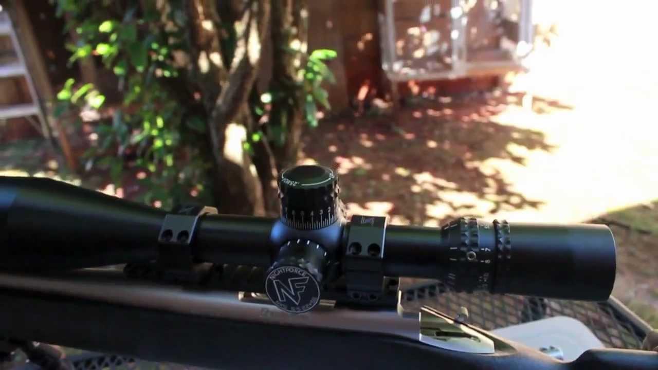 Nightforce NXS 5.5-22 x 56mm MOAR with ZeroStop. - YouTube