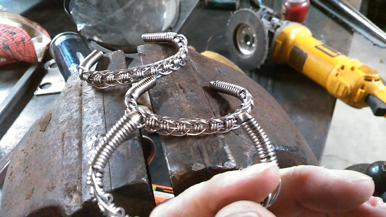 Stainless wire bracelet - YouTube