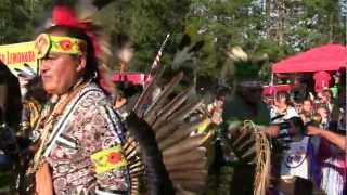Honor The Earth 2012 Pow Wow Grand Entry La Courte Oreilles Band of Lake Superior Ojibwe Nation