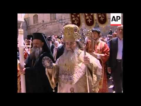 Orthdox Easter ceremonies in Jerusalem and Gaza