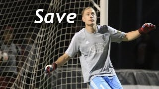 SAVE: Billy Thompson parries away a VCF attempt