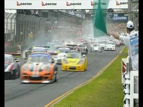 AUST GT CHAMP Race 2 Start Pile Up Crash
