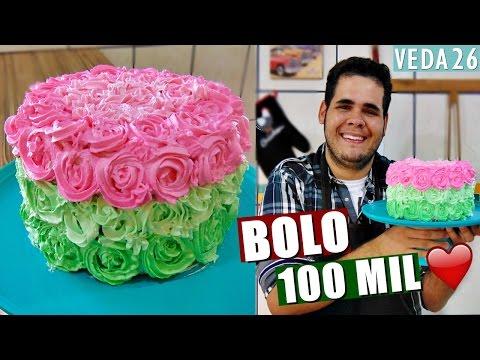 BOLO MOUSSE DE DOCE DE LEITE DOS 100 MIL INSCRITOS #VEDA26