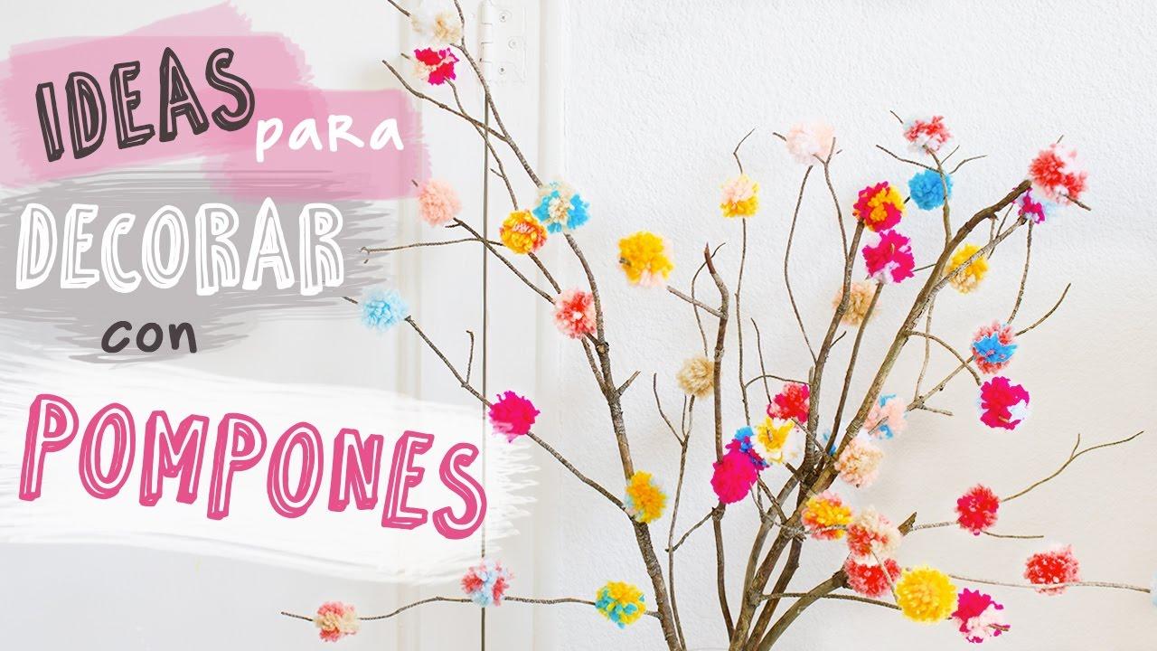 Ideas para decorar con pompones diy decoraci n f cil - Decoracion con pompones ...