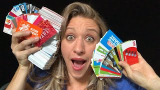 She Found all these Gift Cards- How much Money did She get?
