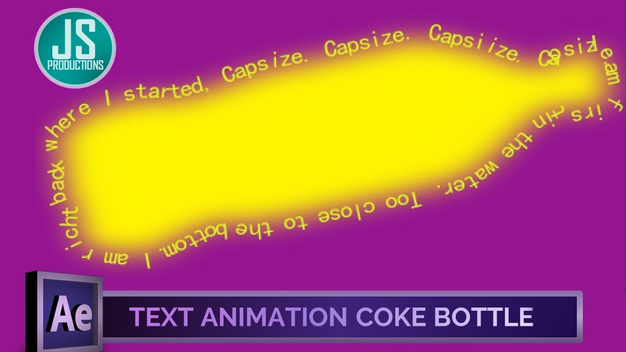 After Effects: Text Animation on the Coke Bottle Edges | Intermediate Level