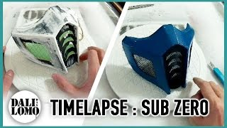 Timelapse - Making Mortal Kombat Sub Zero Mask DIY Cosplay