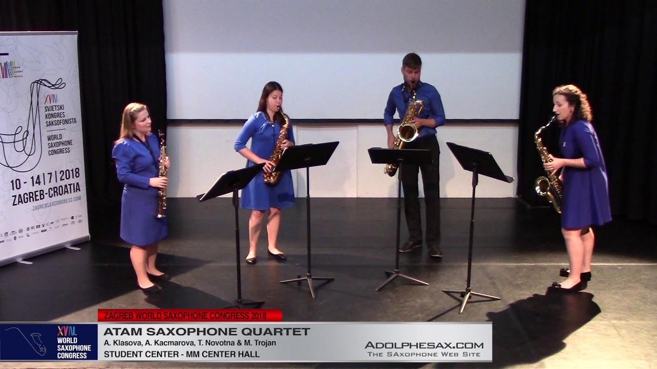 Unquartering by Sax by Marek Pavlicek   Atam Saxophone Quartet   XVIII World Sax Congress 2018 #adol