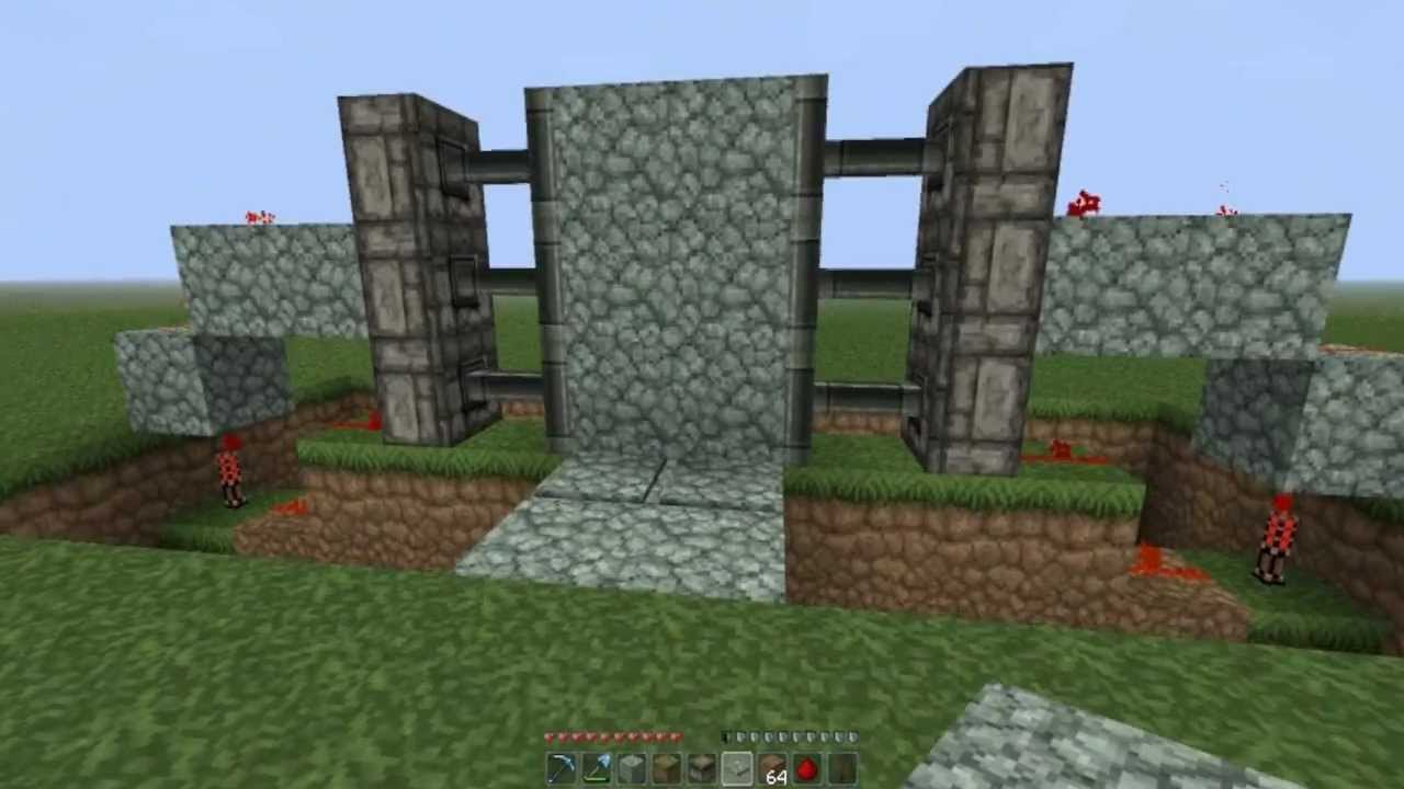Minecraft - How to make sliding doors using sticky pistons ...