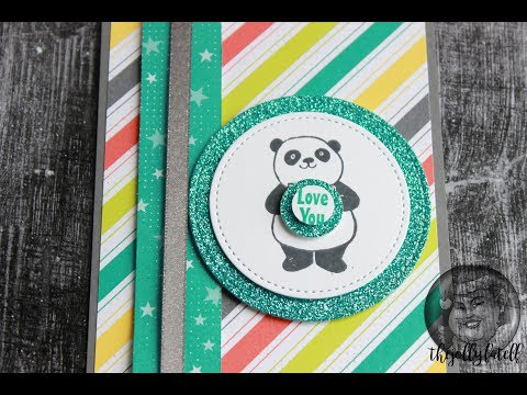 Love You Card With Party Pandas