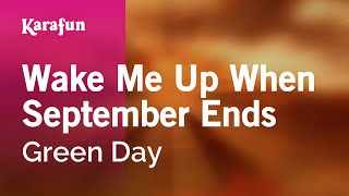 Wake Me Up When September Ends - Green Day | Karaoke Version | KaraFun