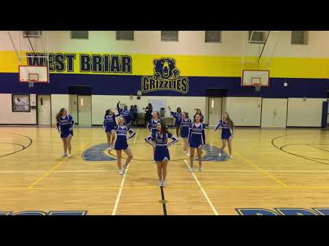 Westside H. S. Cheerleaders performance at West Briar Middle School Fall Show 2019