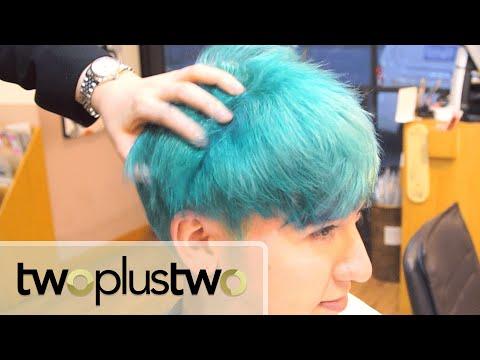 Getting KPOP Hair [TOP BLUE HAIR]