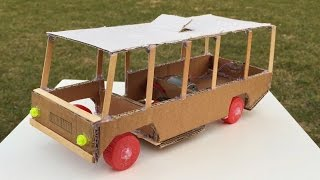 How to Make a Bus - Amazing DIY Electric Car - Easy to Build