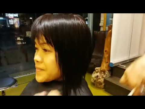 Johnny Lim&39;s creative cut asymmetrical bob