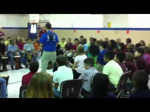 Drum Circle at Story Intermediate School