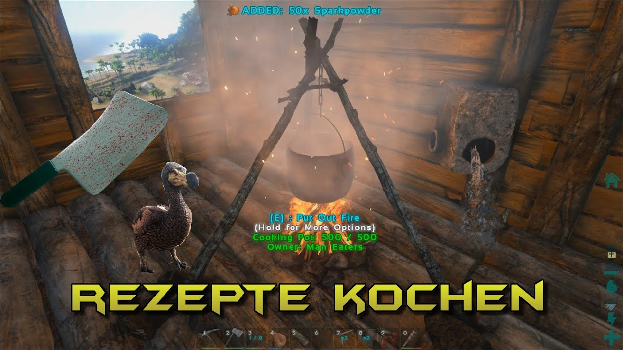 Ark Survival Evolved Rezepte Kochen Gameplay German Deutsch