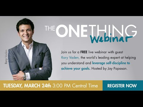 The ONE Thing - Learning Self-Discipline and Overcoming Procrastination w/ Rory Vaden (03-24-15)