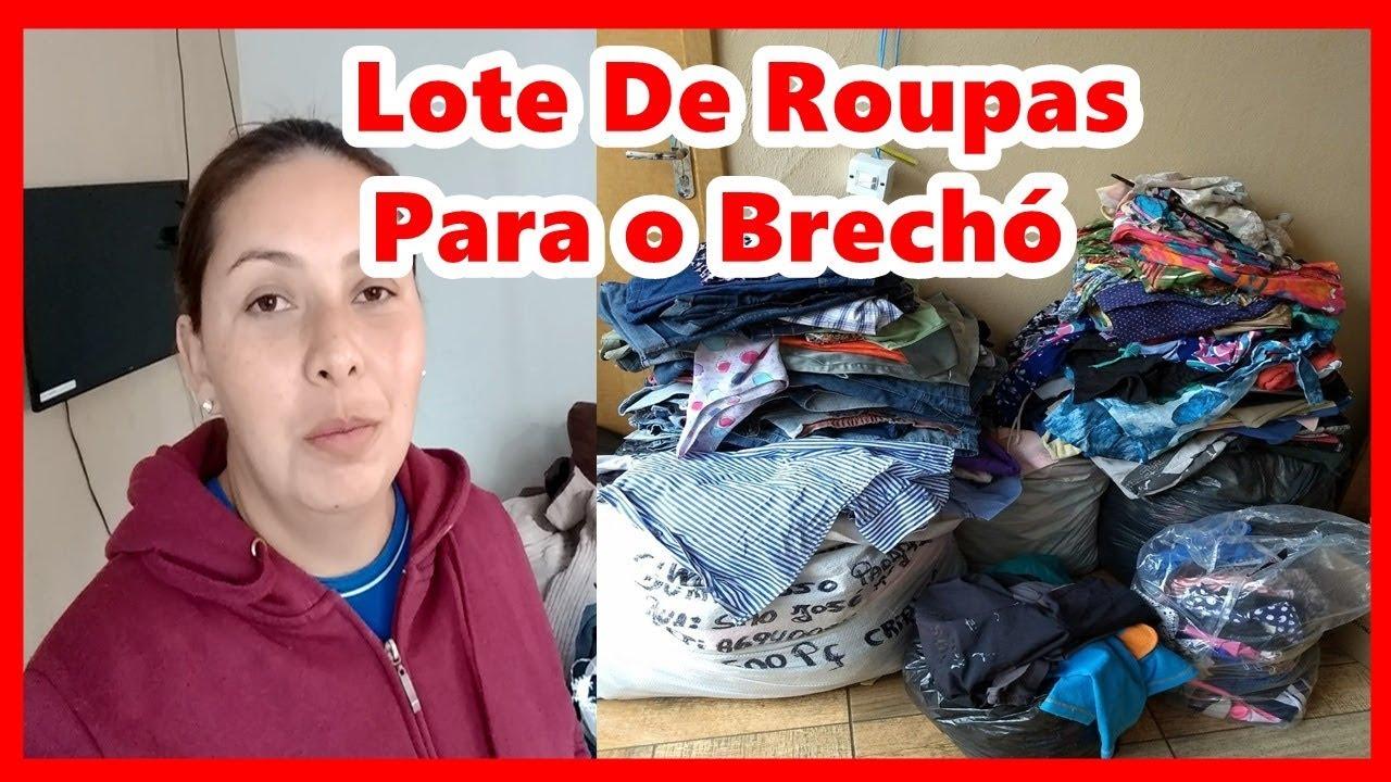 0f60923dc Onde Comprar Roupas Usadas Para Montar um Brechó - Lote De Roupas Do ...