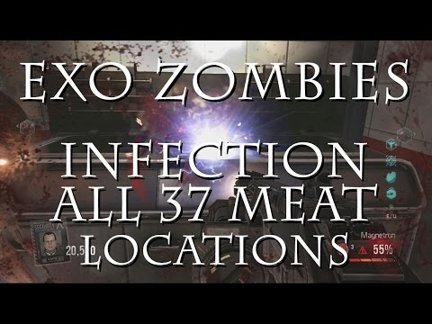 Exo Zombies - Infection - All 37 Meat Locations for Easter Egg