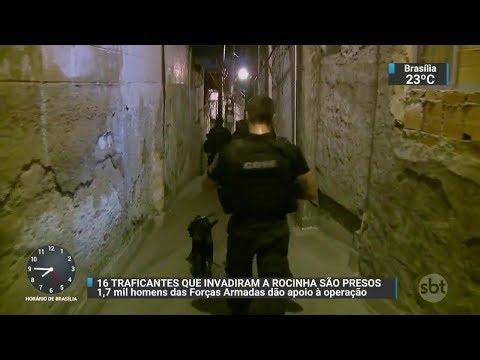 Traficantes que invadiram a comunidade da Rocinha são presos | SBT Brasil (27/10/17)
