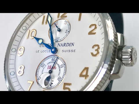 Ulysse Nardin Marine Chronometer White and Blue Watch Review 263-66