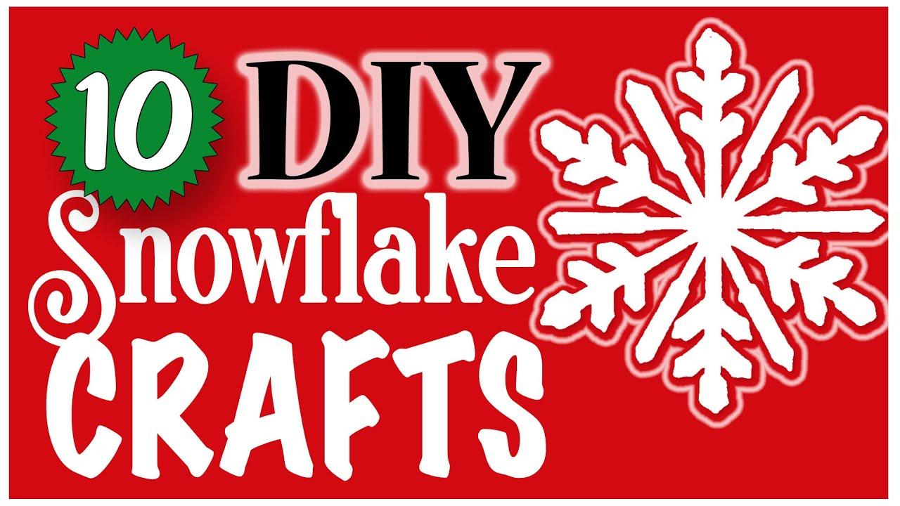 10 EASY Snowflake Crafts! ❄️ DOLLAR TREE DIYs