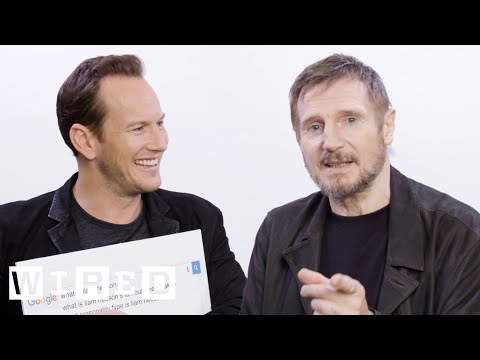 Liam Neeson & Patrick Wilson Answer the Webs Most Searched Questions  WIRED