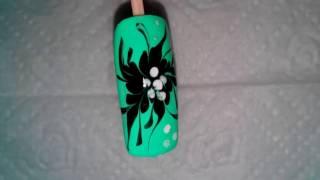 Рисунки на ногтях для начинающих №4.  Figures on nails for Beginners №4