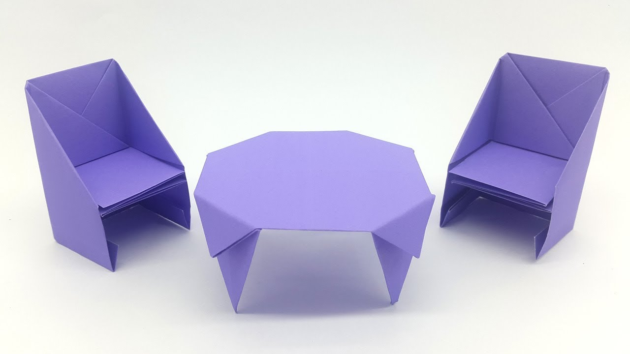Exceptionnel How To Make A Paper Table   Easy Origami Table Making Tutorial