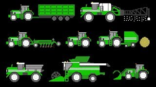 Farm Vehicles - Book Version - Old MacDonald - The Kids' Picture Show (Educational Learning Video)