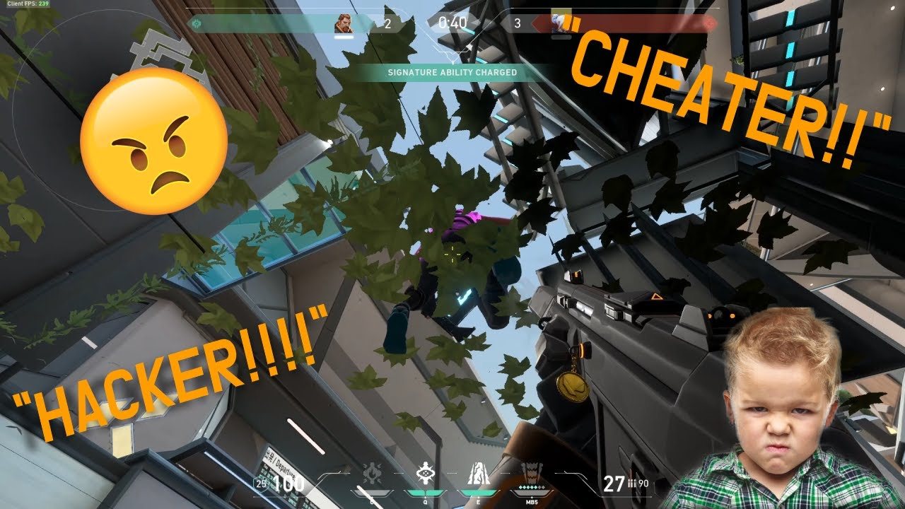 TROLLING MY FRIEND IN VALORANT CUSTOM 1V1 USING IN GAME CHEATS (He quit the game)