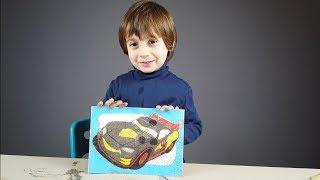 Şimşek McQueen Boyaması Çocuk Videosu | Lightning McQueen Painting for Kids