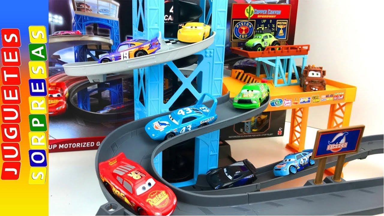 Para Cars Cup Coches Carrera Carros De Motorizet Pista 3 Garage Niños Piston shxtrdQCB