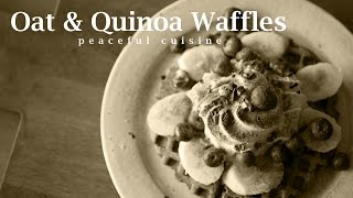 [no Music] How To Make Oat & Quinoa Waffles