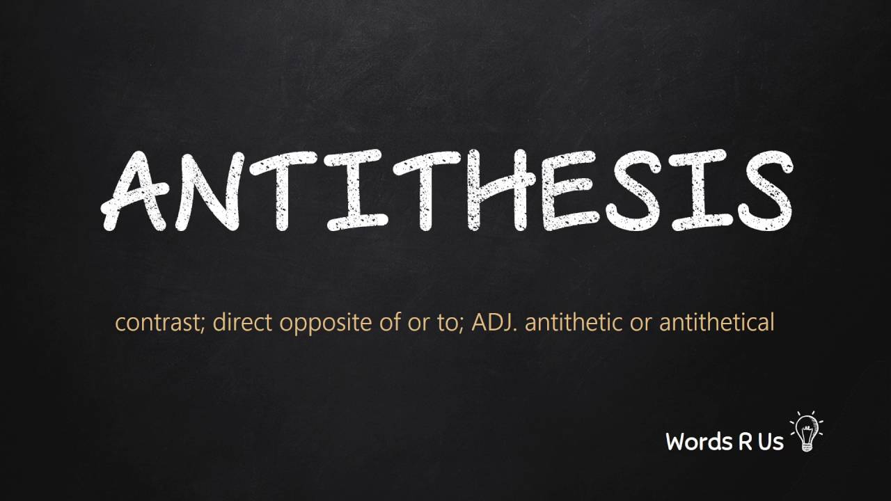 How to Pronounce ANTITHESIS in American English